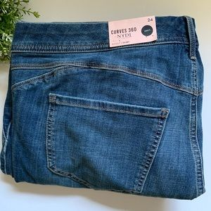 NYDJ in Curves 360 Jackson Jean Boost Skinny Raw